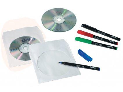 Obálky na CD / DVD - 100 ks / bílá