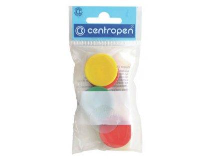Magnety Centropen - průměr 30 mm / barevný mix / 6 ks