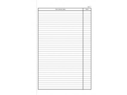 Stavební deník Optys  -  A4 / číslovaný 128 listů NCR / 1278