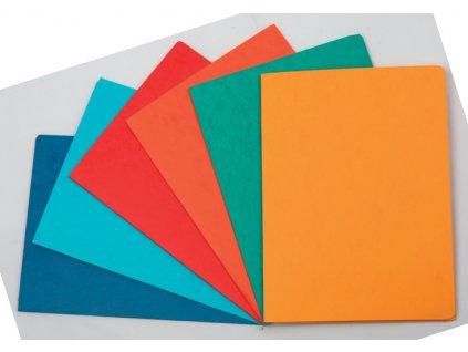 Odkládací mapy prešpánové s chlopněmi - oranžová
