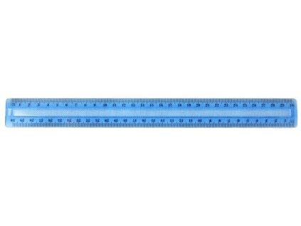 Pravítko barevné - 30 cm / modrá