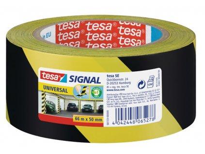 Lepicí pásky Tesa značkovací - 50 x 66 / černo - žlutá