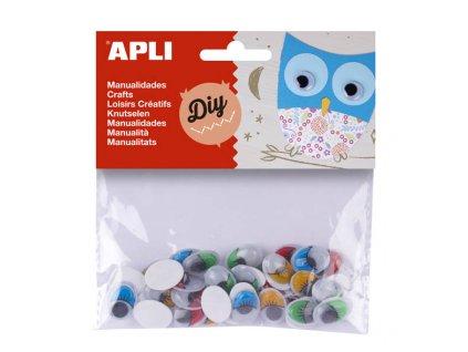 Doplňky APLI - samolepicí očíčka / 40 ks