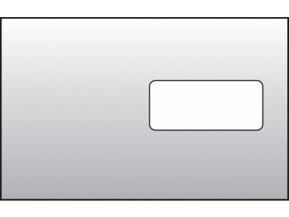 Obálky C5 samolepicí s krycí páskou - okénko vpravo / 1000 ks