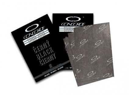 Uhlový papír Concorde - černá / 100 listů