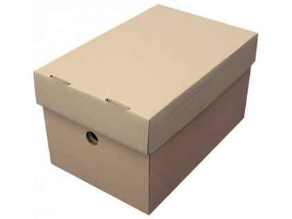 Papírové krabice  -  A4 / 25 cm x 32,5 cm x 15 cm / 2 ks