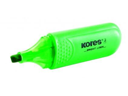 Zvýrazňovač Kores Bright liner - zelená