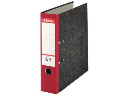 Pořadač A4 pákový papírový s barevným hřbetem - hřbet 7,5 cm / červená