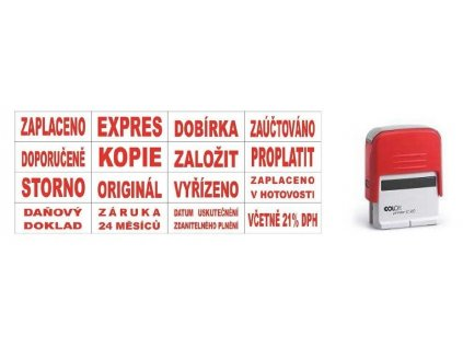 Razítka Colop Printer 20/L s textem - doporučeně