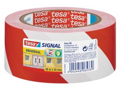 Lepicí pásky Tesa značkovací - 50 x 66 / červeno - bílá
