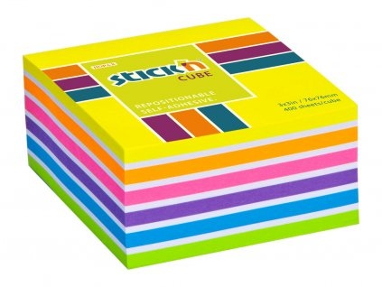 Samolepicí bločky Stick´n by Hopax - 76 x 76 mm / 400 lístků / neon mix žlutá