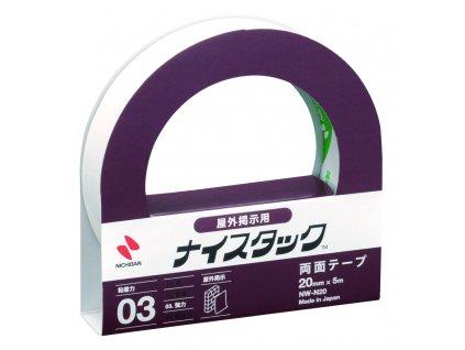 Lepicí pásky oboustranné Nichiban NICETACK - na venkovní použití / 20 mm x 5 m