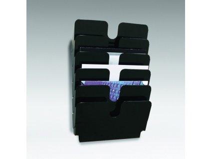 Držáky na prospekty Durable - Flexiplus 6 / A4 černý / na šířku