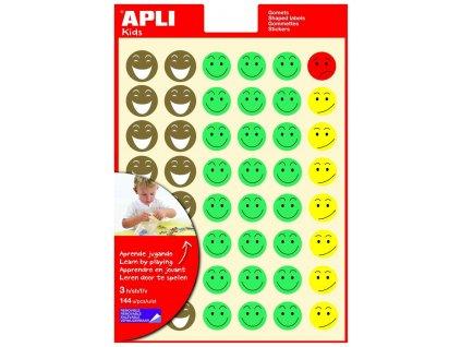 Samolepicí hodnotící smajlíci APLI - 144 ks