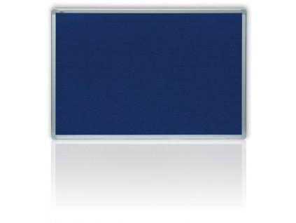 Tabule filcová v hliníkovém rámu - 90 x 120 cm / modrá