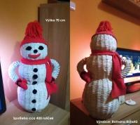 vánoční sněhulák s papírových ruliček