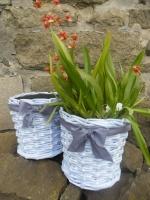 Využití plastových obalů z květin, papírové pletení, levandulová