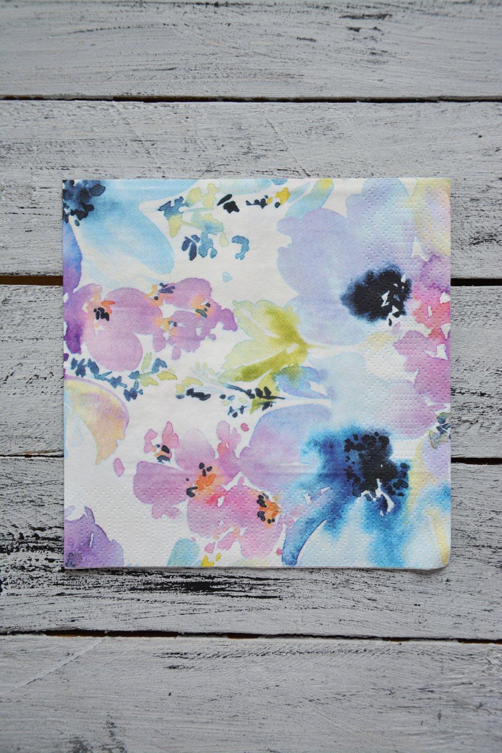 Akvarelové květy