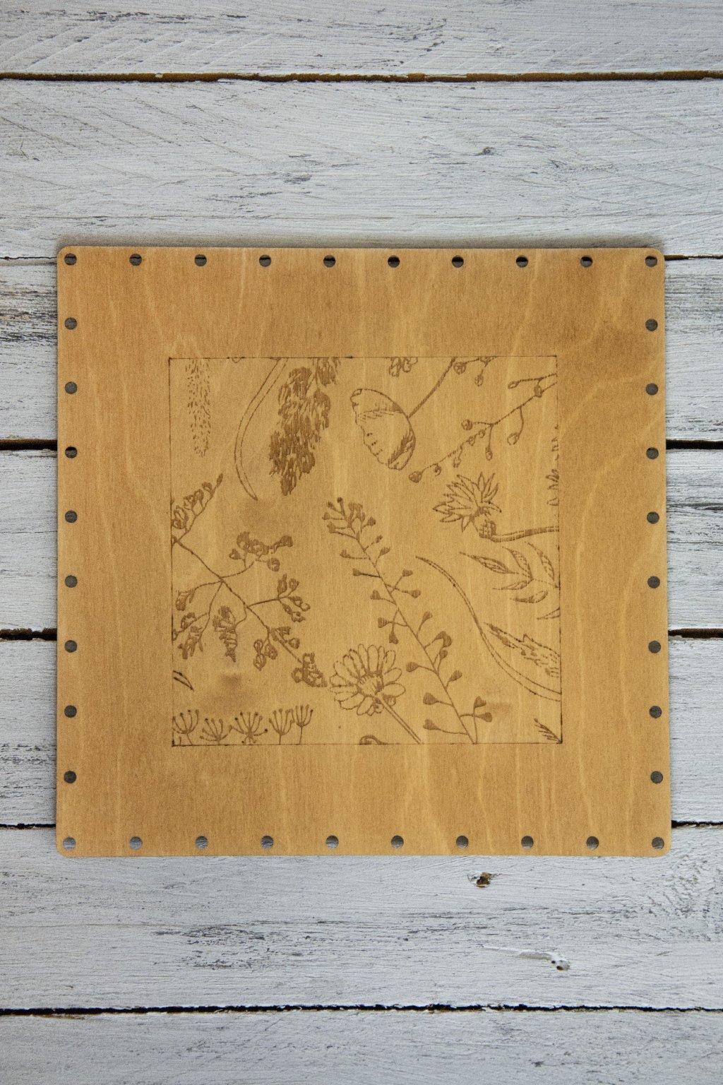 Mořené dřevěné dno s originálním motivem