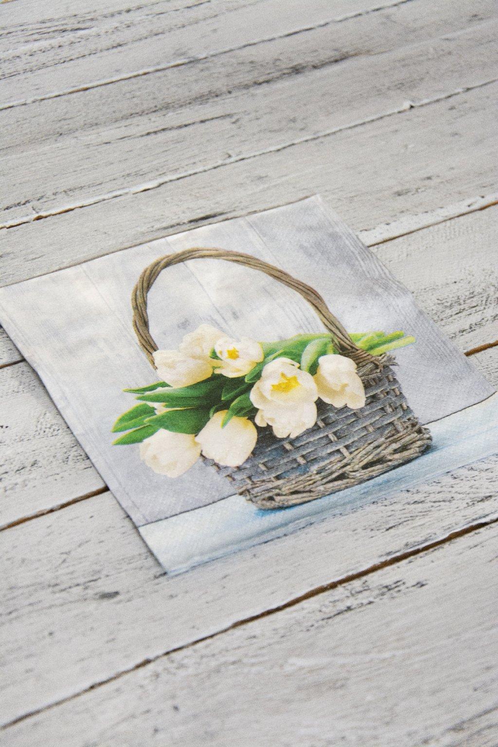 Košíček s tulipány