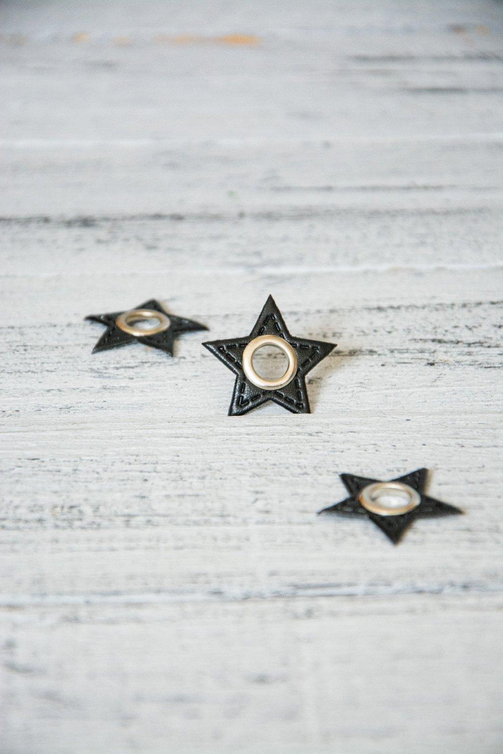 Hvězda 3 x 3 cm, otvor vnitřní rozměr 8 mm