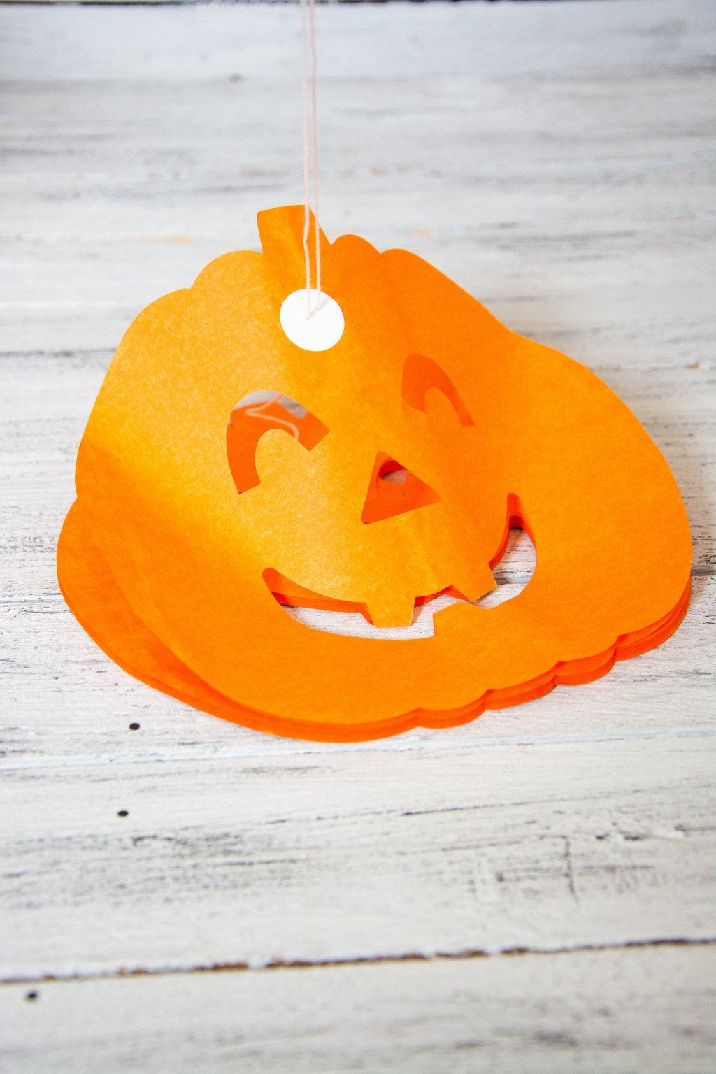 Papírová girlanda Halloweenská dýně