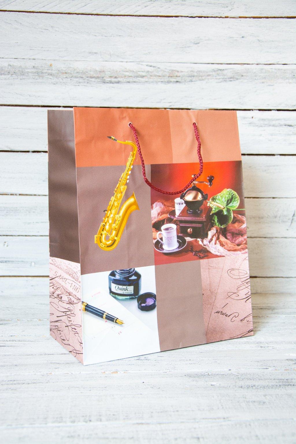 Lesklá  dárková taška Rozměr 7 x 33 x 14 cm