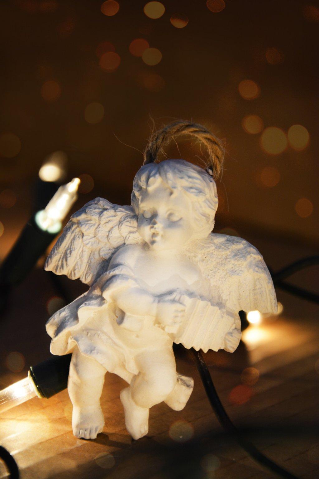 andílek vánoce pro štěstí