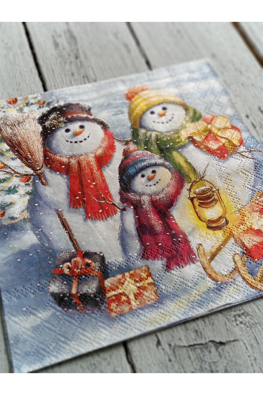 Vánoce - Partička sněhuláčků