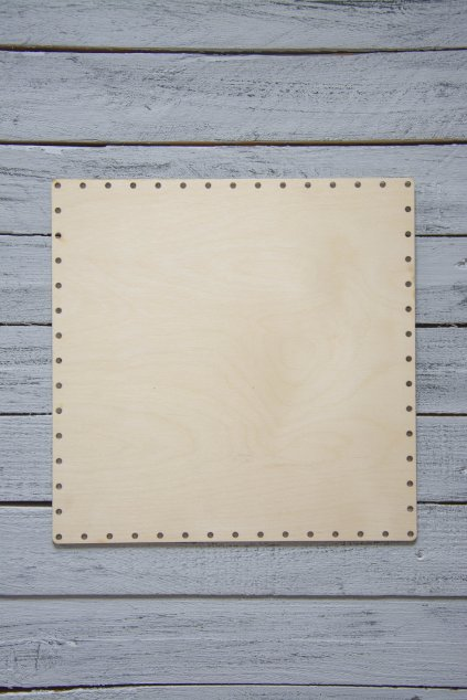 Dno na pletení z papíru ctverec