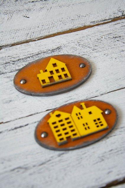 Dřevěné oválné cedulky