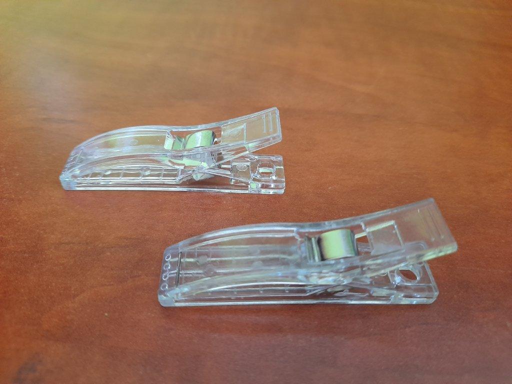 Kolíčky PAPL - průhledné  2 ks
