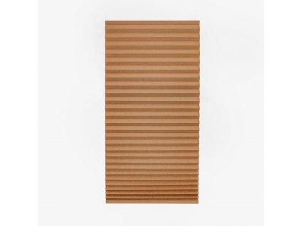 Papírová žaluzie plisé - hnědá 80x180cm