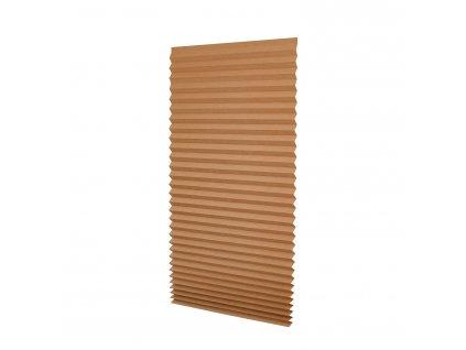 Papírová žaluzie plisé - hnědá 100x200cm