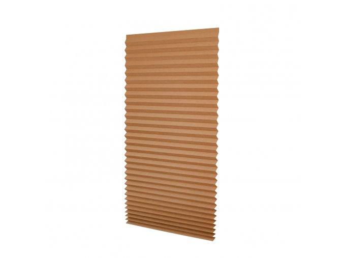Papírová žaluzie plisé PAPL - hnědá 80x180cm