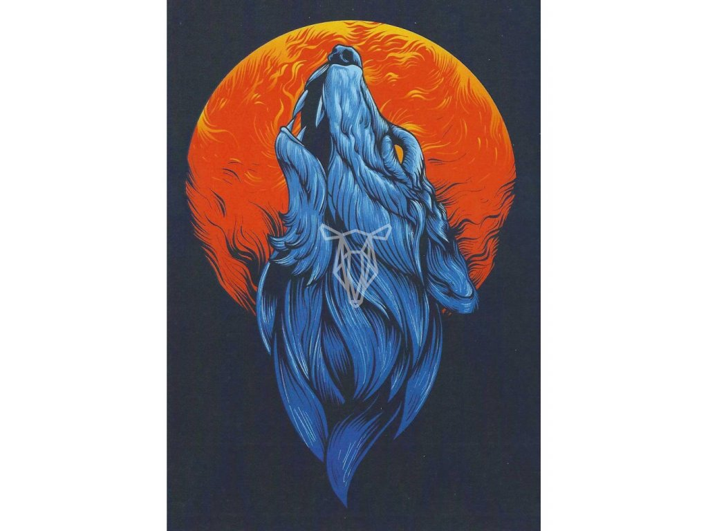15821 2 pohlednice fantasy wolf