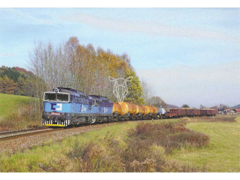 17408 pohlednice vlaky 750 013 5 750 287 5