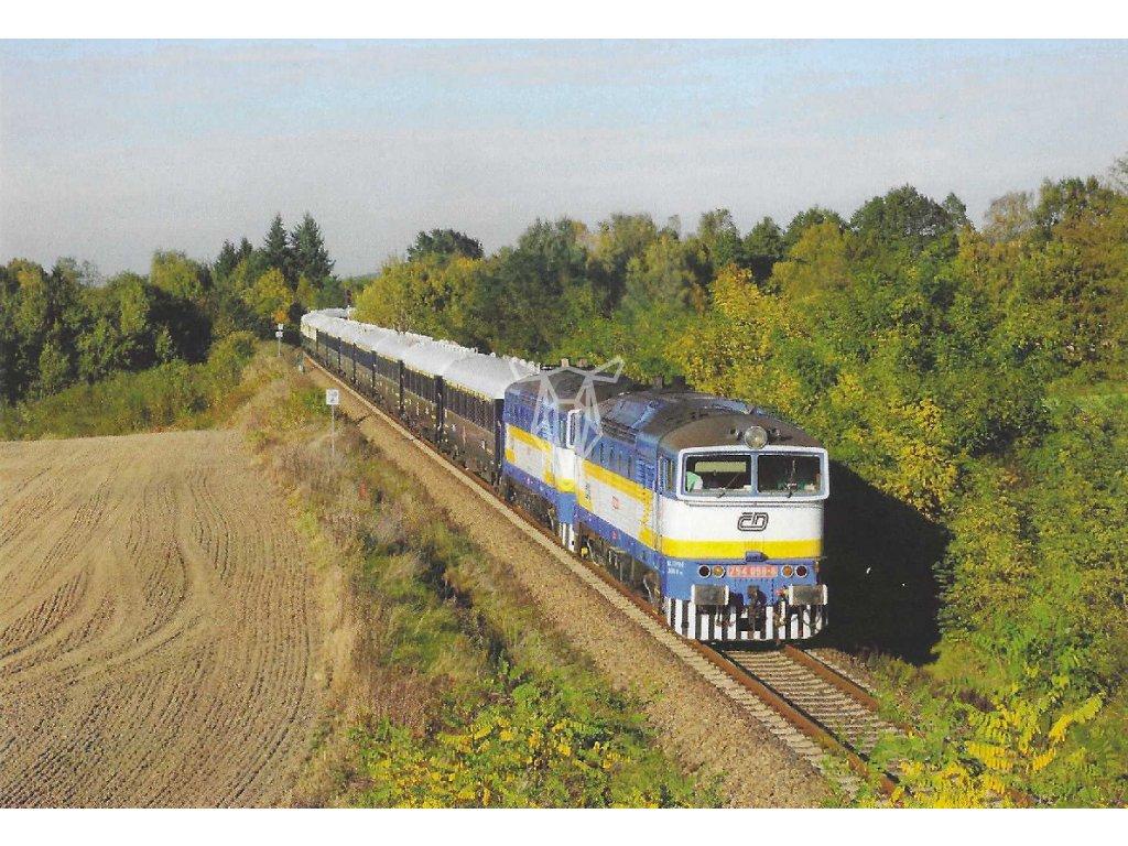 17399 pohlednice vlaky 754 058 6 754 057 9