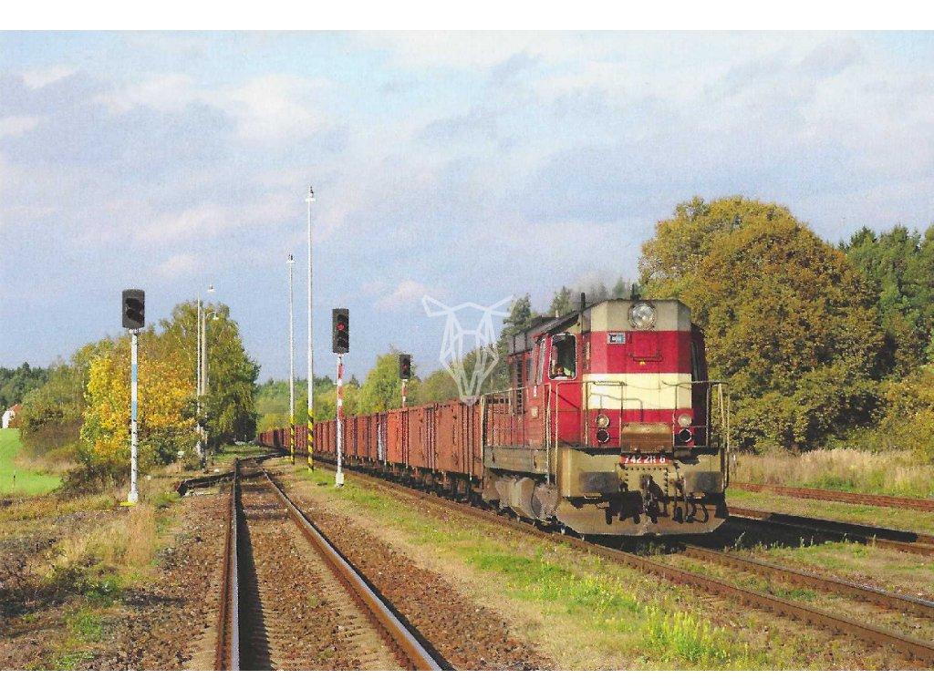 17396 pohlednice vlaky tranizstor 742 211 6