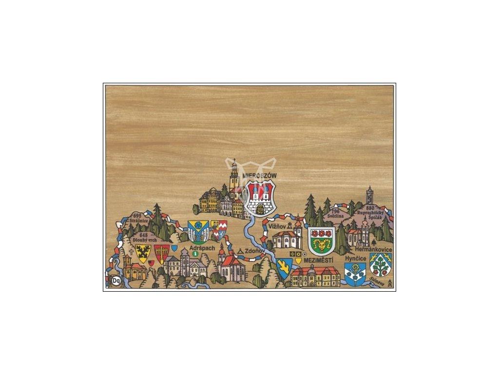 14663 3 pohlednice adrspach putovani krajinou s erby