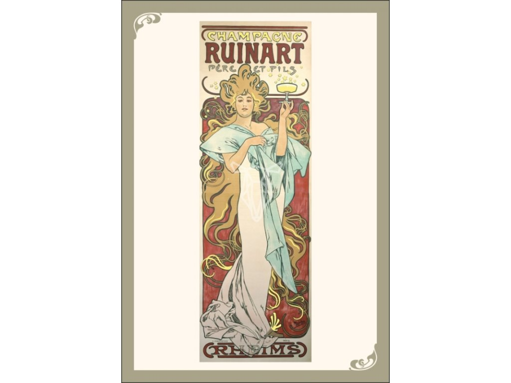 13337 3 pohlednice alfons mucha champagne ruinart