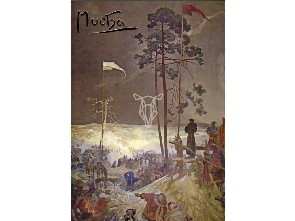 5750 2 pohlednice alfons mucha slovanska epopej schuzka na krizkach