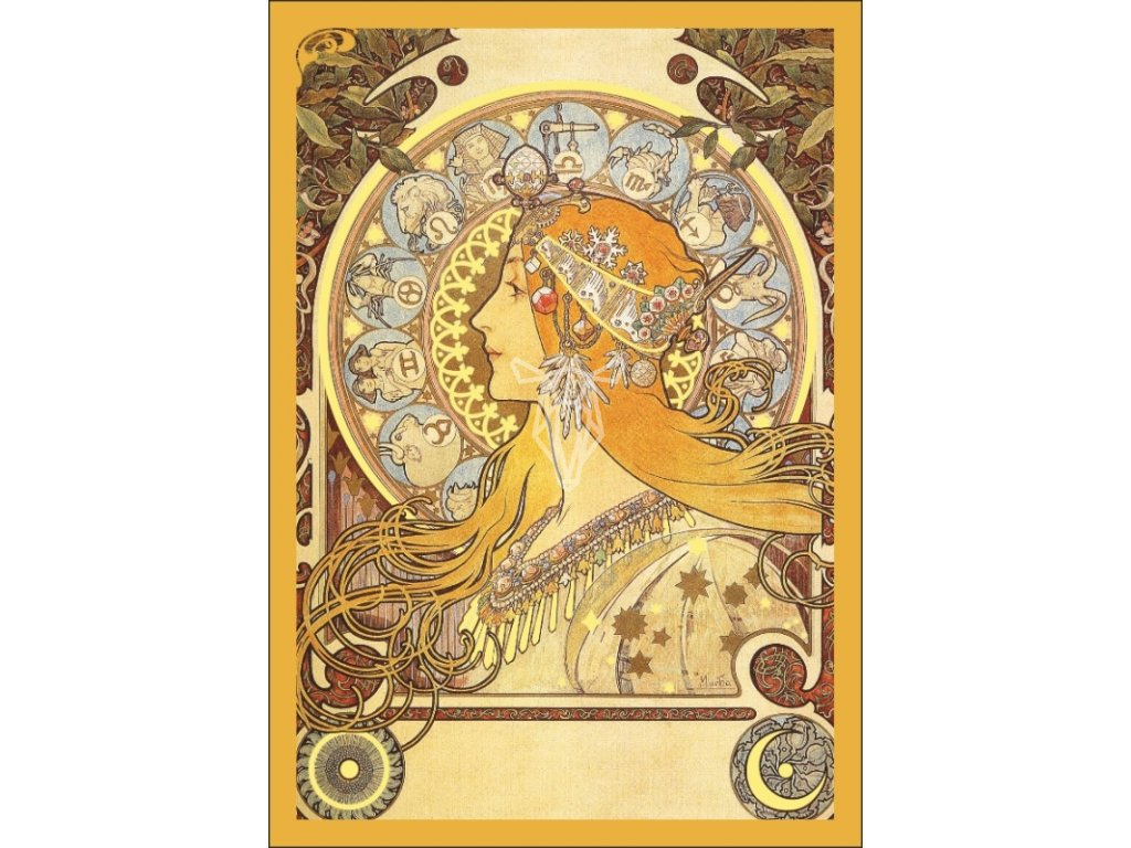 13343 3 pohlednice alfons mucha zodiac zverokruh