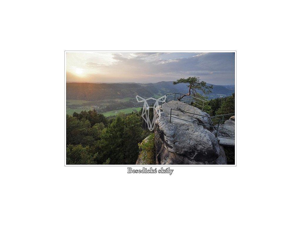 11405 2 pohlednice besedicke skaly