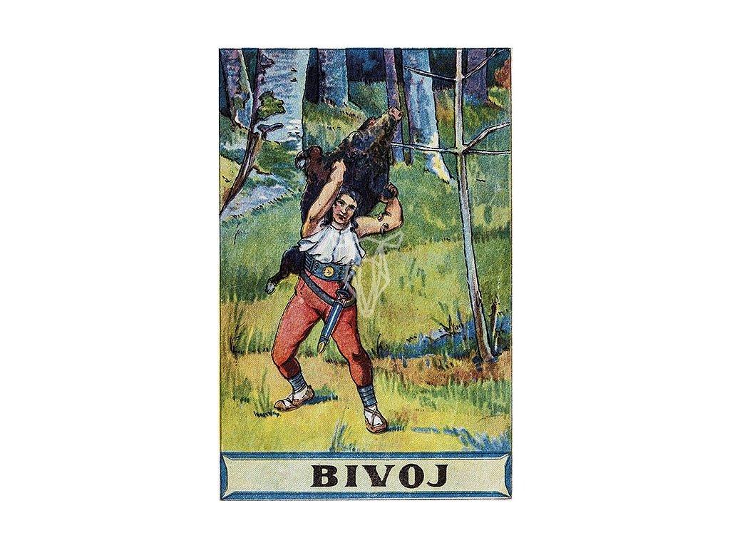 8381 2 pohlednice bivoj