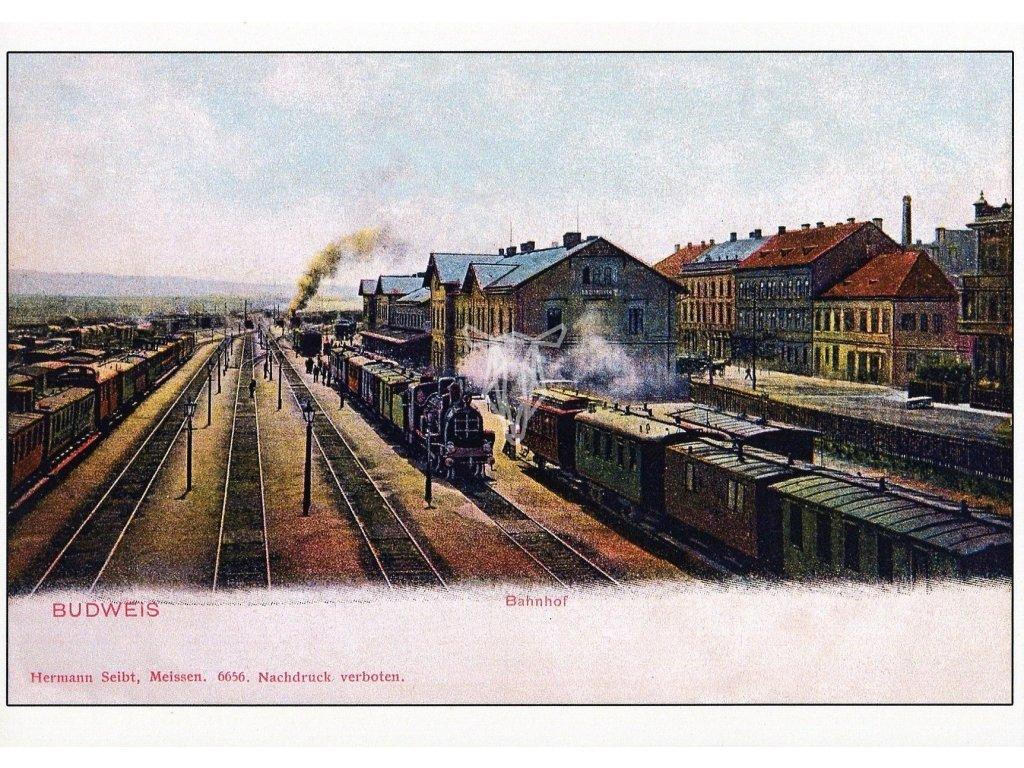4541 2 pohlednice budweis bahnhof ceske budejovice nadrazi