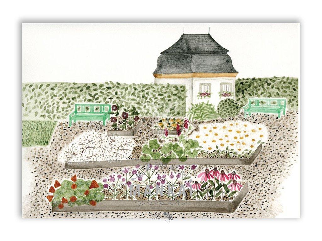 16607 pohlednice bylinkova zahrada v kuksu