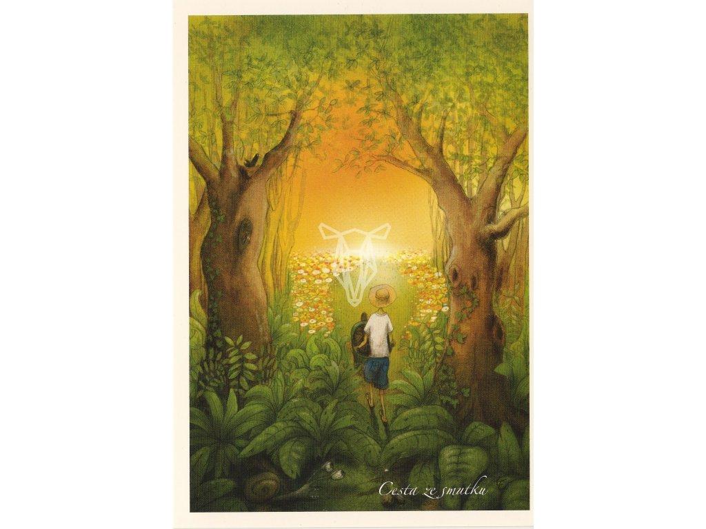 7706 2 pohlednice cesta ze smutku