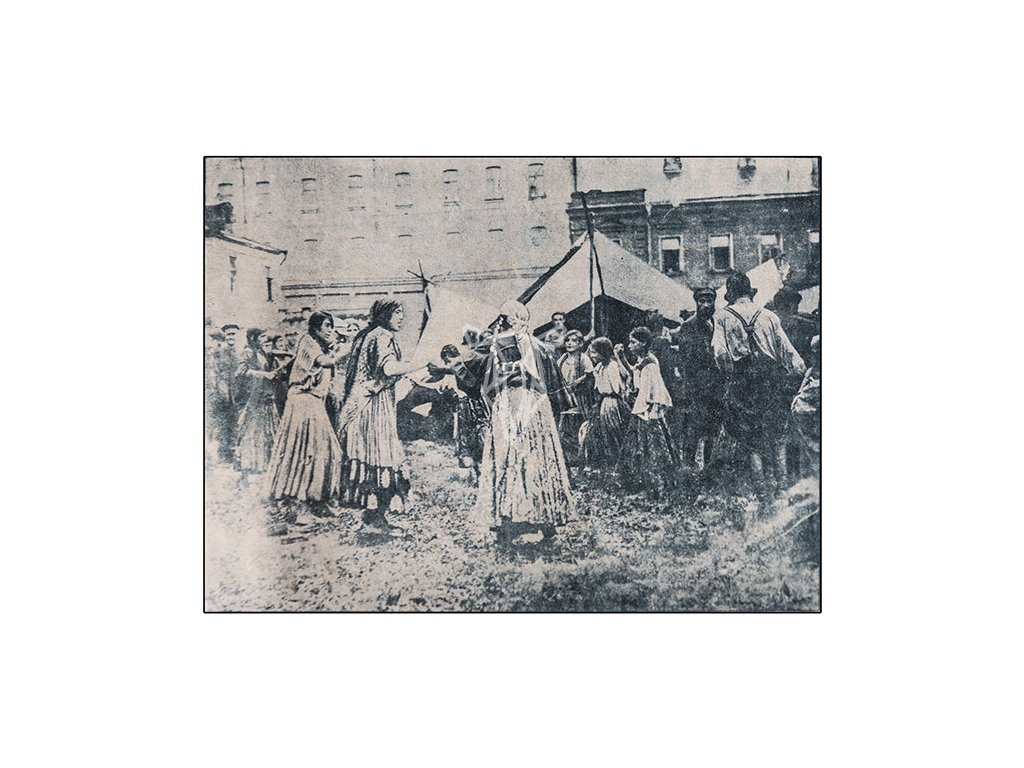 14603 3 pohlednice cikanska tanecni produkce