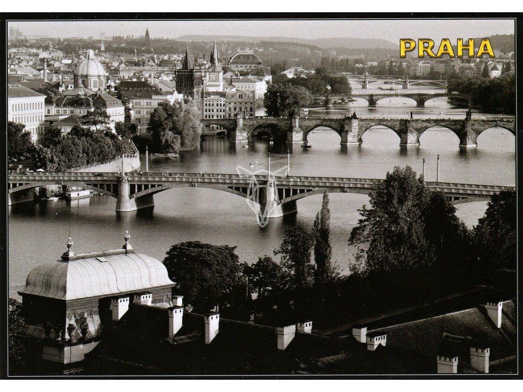 257 2 pohlednice cernobila praha mosty